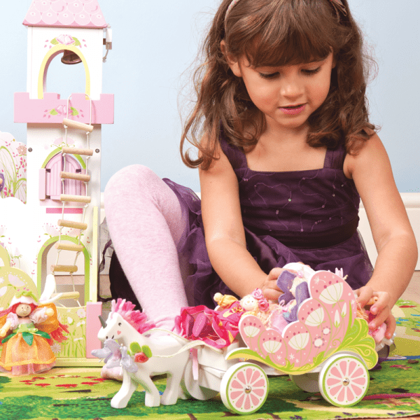 Le Toy Van Fairybelle Carriage and Wooden Unicorn - Educational Toys Onlnine
