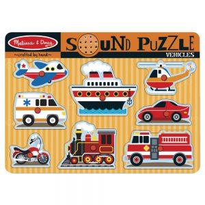 Melissa and Doug Vehicles Sound Puzzle - Educational Toys Online