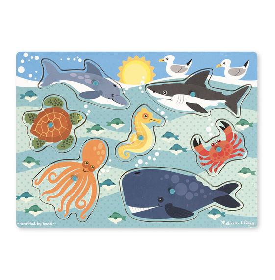Melissa and Doug Sea Creatures Peg Puzzle