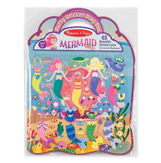 Melissa and Doug Reusable Puffy Sticker Play Set - Mermaid