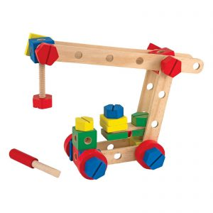Melissa and Doug Wooden Toy Construction Set