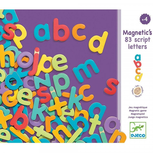 Djeco Wooden Magnetic Lowercase Letters