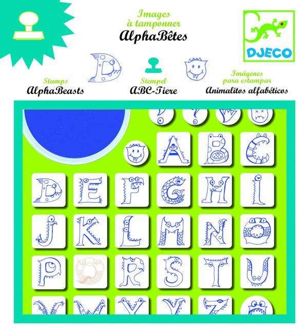 Djeco Alphabeasts Stamps