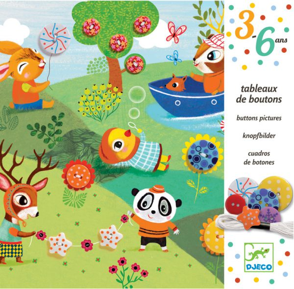 Djeco Four Seasons Button Pictures - Educational Toys Online