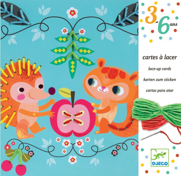 Djeco Friends Lace-up Cards
