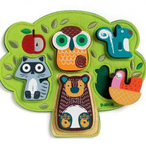 Djeco Oski Wooden Felt Puzzle