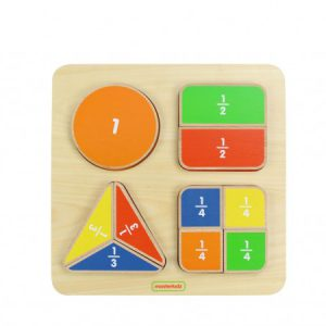 MasterKidz Math Toy Geometric Fraction Board