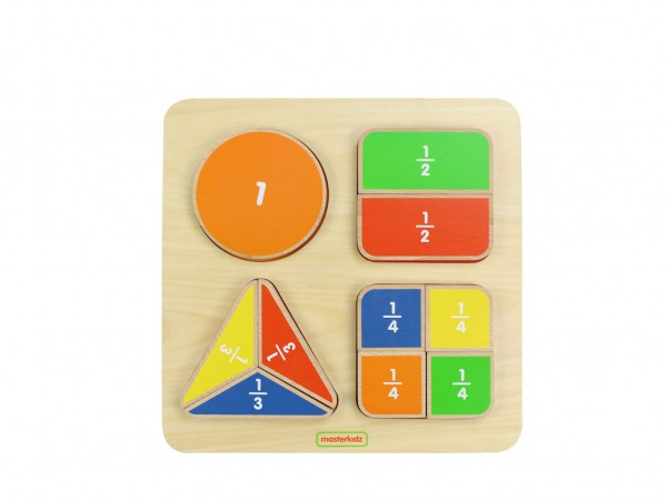 MasterKidz Math Toy Geometric Fraction Board