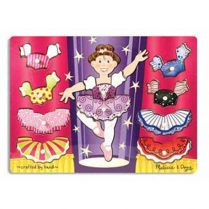 Melissa and Doug Ballerina Dress-Up Peg Puzzle