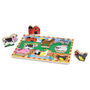 Melissa and Doug Farm Chunky Puzzle