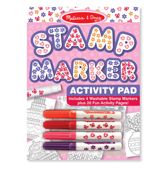 Melissa and Doug Stamp Marker Activity Pad Pink - Educational Toys Online