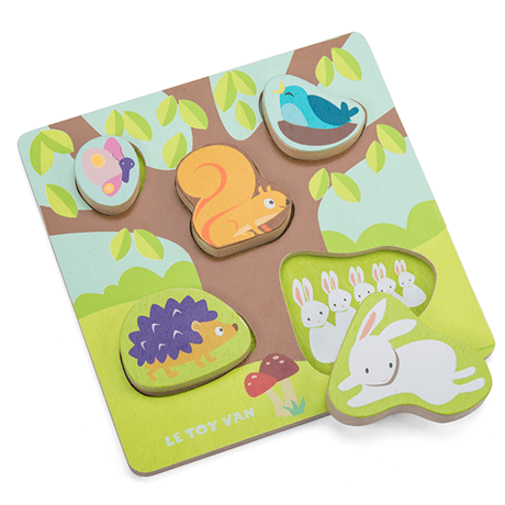 Petilou Mama Baby Counting Puzzle