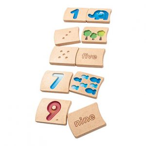 Wooden Numbers Set Tiles - PlanToys