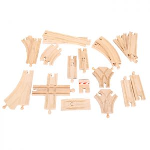 Bigjigs Wooden Train Toy Set Track Expansion Set