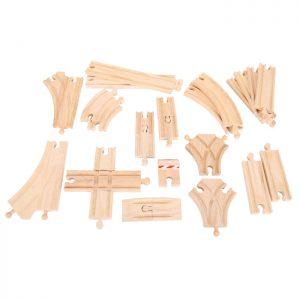 Bigjigs Wooden Train Toy Set Track Expansion Set - Educational Toys Online