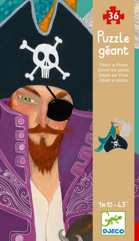 Djeco Elliott Pirate Giant Puzzle