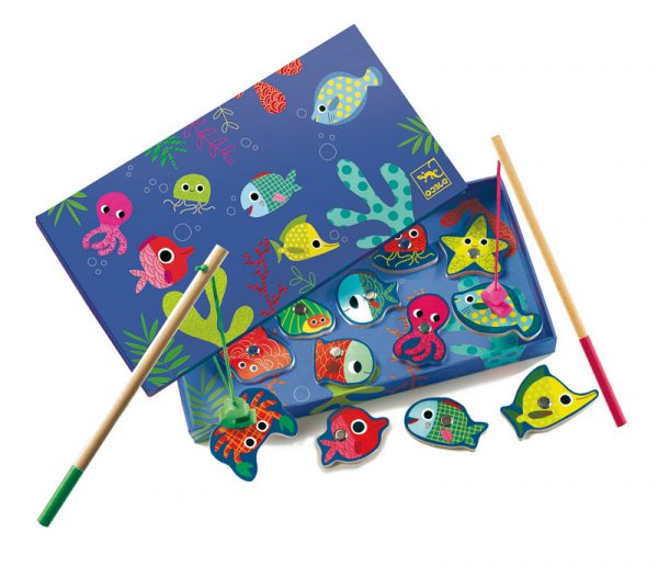 Djeco Magnetic Coloured Fishing