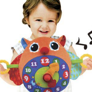 K's Kids Owl Clock