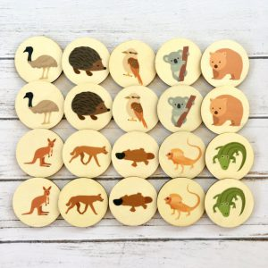 Memory Match Game Australian Animals