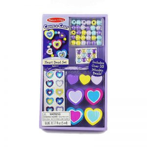 Melissa & Doug Create-A-Craft Wooden Heart Bead Set - Educational Toys Online