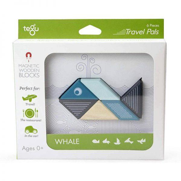 Tegu Travel Pals Whale - Educational Toys Online