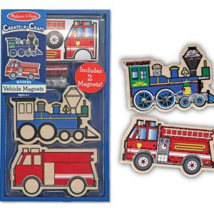 Melissa & Doug Create-A-Craft Wooden Vehicles Magnets - Educational Toys Online