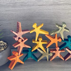 Coloured Wooden Stacking Acrobats