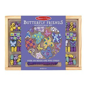Melissa and Doug Butterfly Friends Wooden Bead Set - Educational Toys Online