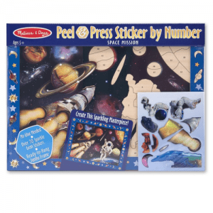 Melissa and Doug Peel & Press Sticker by Number Space Mission - Educational Toys Online