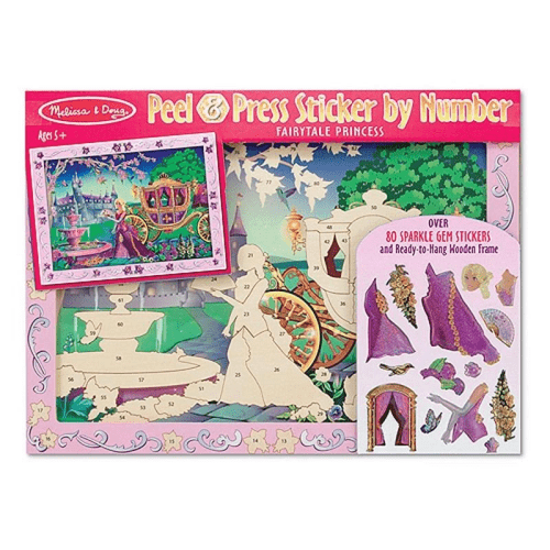 Melissa and Doug Peel & Press Sticker By Number Fairytale Princess - Educational Toys Online