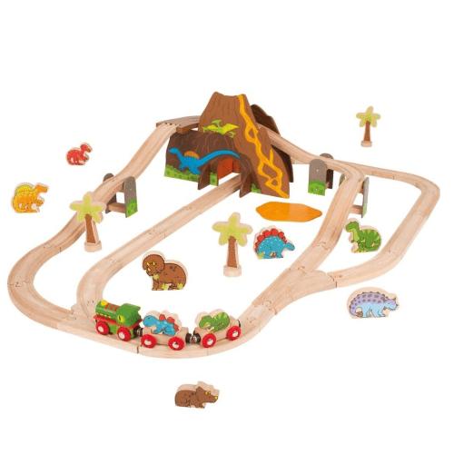 BigJigs Train Set Dinosaurs - Educational Toys Online