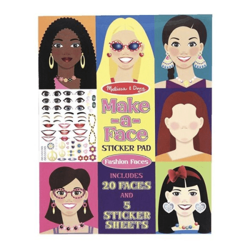 Melissa and Doug Make a Face Sticker Pad Fashion Faces - Educational Toys Online
