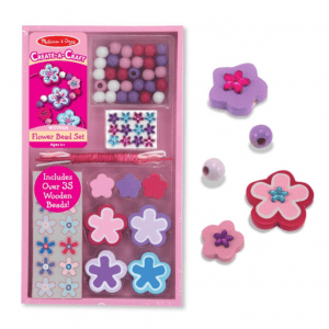 Melissa and Doug Create-A-Craft Wooden Flower Bead Set - Educational Toys Online