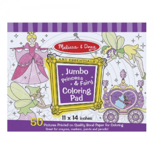Melissa and Doug Jumbo Princess and Fairy Colouring Pad - Educational Toys Online