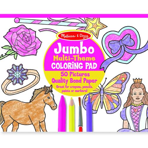 Melissa and Doug Jumbo Multi-theme Colouring Pad - Educational Toys Online