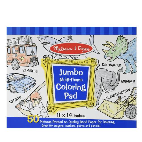 Melissa and Doug Jumbo Muli-theme colouring pad - Educational Toys Online