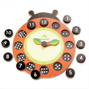 Tender Leaf Ladybug Teaching Clock