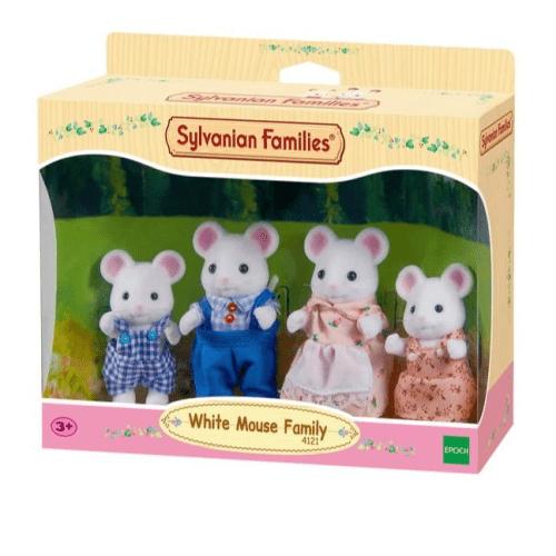 Sylvanian Families Hawthorn White Mouse Family - Educational Toys Online