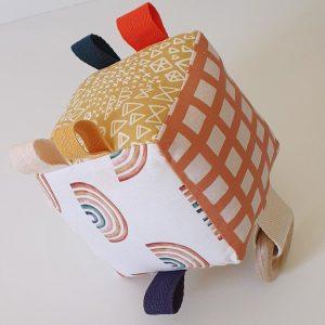 Earthy Rainbows - Poppy Sonrisa Soft Sensory Cubes - Educational Toys Online