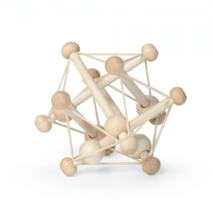 Skwish Natural Wooden Teether and Rattle - Educational Toys Online