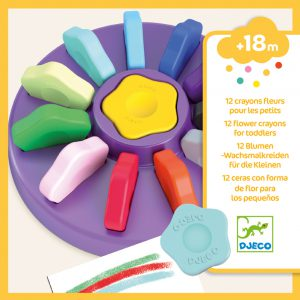 Djeco 12 Toddler Flower Crayons