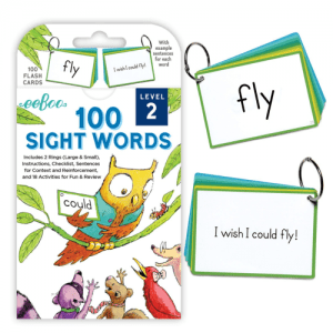 100 Sight Words Flash Cards - EeBoo Level 2 - Educational Toys Online