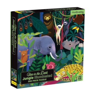 Mudpuppy Glow in Dark Jungle Puzzle - 500 Pc- Educational Toys Online